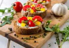 Tasty bruschetta Stock Photography