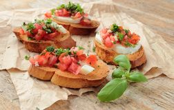 Tasty bruschettas Royalty Free Stock Photography