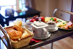 Tasty buffet breakfast served on a table Royalty Free Stock Photography