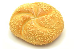 Tasty bun isolated on white Royalty Free Stock Image
