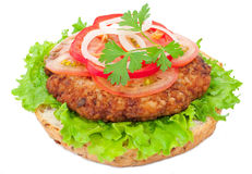 Tasty burger Stock Photo
