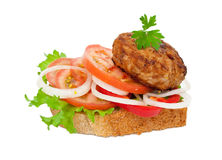Tasty burger Royalty Free Stock Photography