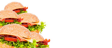 Tasty burger background Royalty Free Stock Images