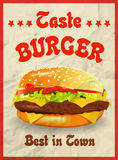 Tasty burger best in town. Royalty Free Stock Photos