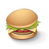 Tasty Burger Cartoon Stock Images