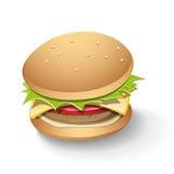 Tasty Burger Cartoon Royalty Free Stock Photography
