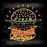 Tasty burger  food menu Stock Images
