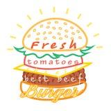 Tasty burger food menu Royalty Free Stock Photos
