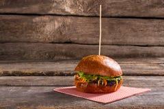 Tasty burger on stick. Stock Photography
