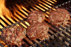 Tasty Burgers On The Barbecue Grill. Summer Party Image. Stock Image