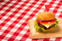Tasty burgers with flags Royalty Free Stock Image