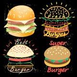 Tasty Burgers Food Menu Royalty Free Stock Image