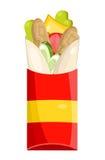 Tasty Burrito on white background Royalty Free Stock Photos