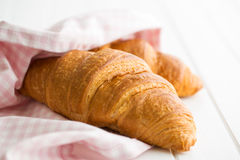 Tasty buttery croissant. Stock Photography