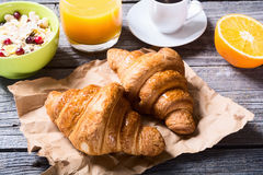 Tasty buttery croissants Royalty Free Stock Photo