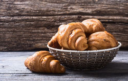 Tasty buttery croissants Stock Photo