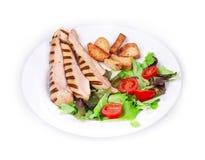 Tasty caesar salad. Royalty Free Stock Photography