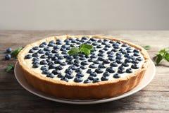 Tasty cake with blueberry stock photos