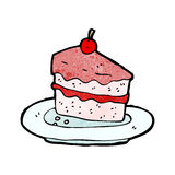 Tasty cake cartoon Stock Images