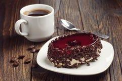 Tasty cake with chocolate and cherry Stock Photo