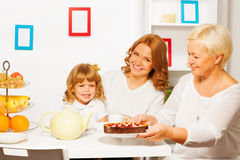 Tasty cake from grandmother Royalty Free Stock Photo