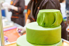 Tasty cake with gum paste Stock Images