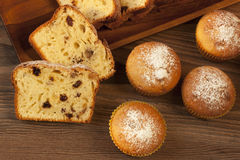 Tasty cake with raisins and walnuts Royalty Free Stock Photos