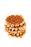 Tasty cake and waffles Stock Images