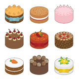 Tasty cakes Royalty Free Stock Photo