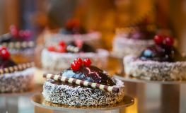 Tasty cakes in whipped cream Royalty Free Stock Photos