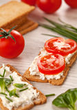 Tasty canapes breakfast snack meal Royalty Free Stock Images