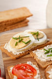 Tasty canapes breakfast snack meal Stock Images