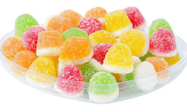 Tasty candy in dish Stock Photo
