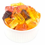 Tasty candy sweets in white cup Royalty Free Stock Images