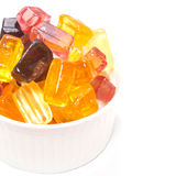 Tasty candy sweets in white cup Stock Image