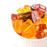 Tasty candy sweets in white cup Stock Images
