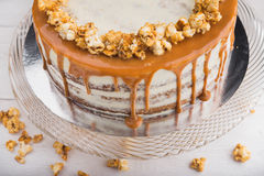 Tasty caramel cake Royalty Free Stock Images