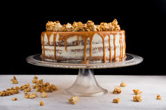 Tasty caramel cake Stock Photo
