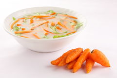 Tasty carrot soup, Royalty Free Stock Image