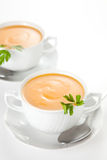 Tasty Carrots puree with parsley Stock Image