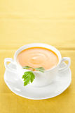 Tasty Carrots puree with parsley Royalty Free Stock Photography