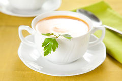 Tasty Carrots puree with parsley Royalty Free Stock Image