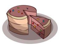 Tasty Cartoon Cake Vector Illustration. Stock Photography