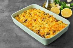 Tasty casserole with corn Royalty Free Stock Photo