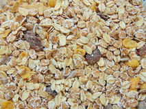 Tasty cereals or muesli for breakfast. With spoon Royalty Free Stock Photos