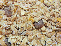 Tasty cereals or muesli for breakfast. With spoon stock images