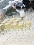 Tasty champagne in glass glasses Royalty Free Stock Photography
