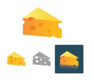 Tasty Cheese in different design Royalty Free Stock Photos