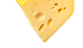 Tasty Cheese On White Royalty Free Stock Images