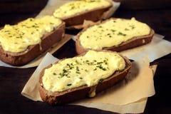Tasty cheese sandwich Stock Photo
